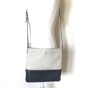 Kate Spade Two Toned Pebble Leather Cross Body Bag
